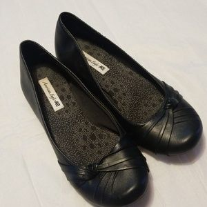 American eagle by payless dress black flats